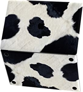 Mertak Vinyl Skin Compatible with MacBook Air 13 inch Mac Pro 16 15 Retina 12 11 2020 2019 2018 2017 Decal Clear Cute Animal Cover Cow Keyboard Sticker Cattle Print Top Black and White Laptop Texture