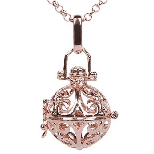 styleBREAKER Halskette Engelsklingel mit Erbskette und Karabinerverschluss, Damen 05030001