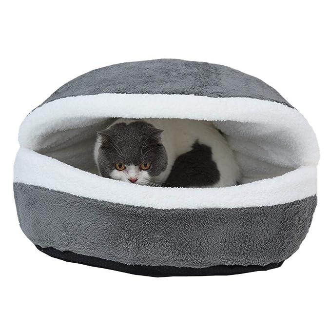 Cama de Gato,Arena para Gatos Lavable extraíble Nido de Mascotas de Perrera Suave y cómodo,Gray,55 * 40CM: Amazon.es: Hogar