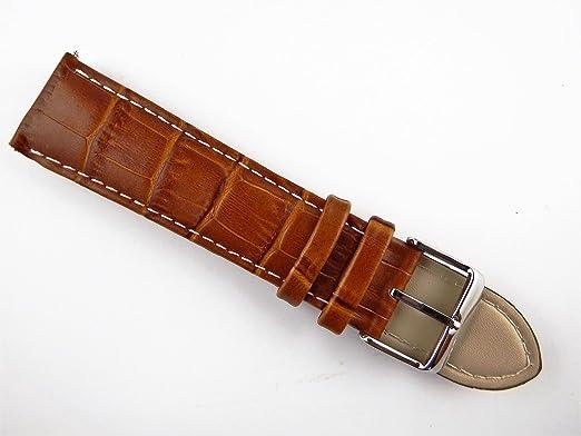 2 opinioni per 24mm Extra Lungo in Vera Pelle Coccodrillo Cinturino per orologio da uomo con