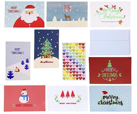 Amazon.com: Penta Ángel 9 Diseños Feliz Navidad Tarjetas de ...
