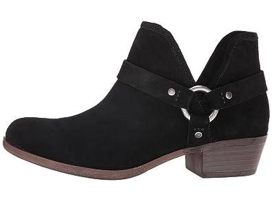 fa3e498a7 Amazon.com | Lucky Brand Women's BASHIRA Harness Booties Black Suede ...