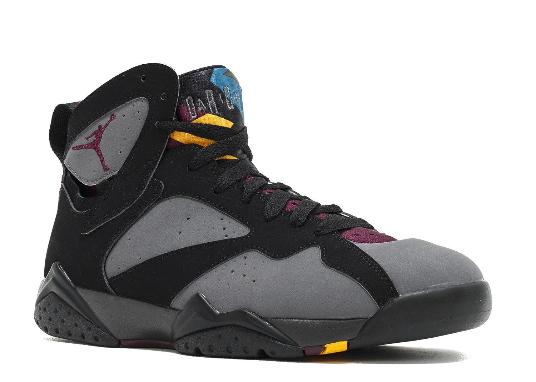 Nike Herren Air Jordan 7 Retro Turnschuhe, Schwarz, 48.5 EU  47 EU|Schwarz / Grau / Rot (Schwarz / Brdx-lt Grpht-mdnght Fg)