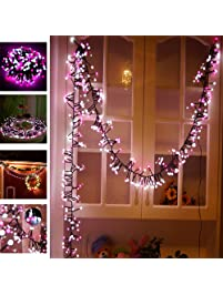 Waterproof Globe String Lights Decorative Lights Pink Patricia Pearson 400  LED Low Voltage Firecracker Decorative Lamp