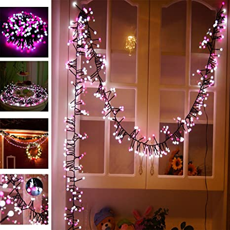 Amazon waterproof globe string lights decorative lights pink waterproof globe string lights decorative lights pink 400 led low voltage firecracker decorative lamp led fairy junglespirit Image collections
