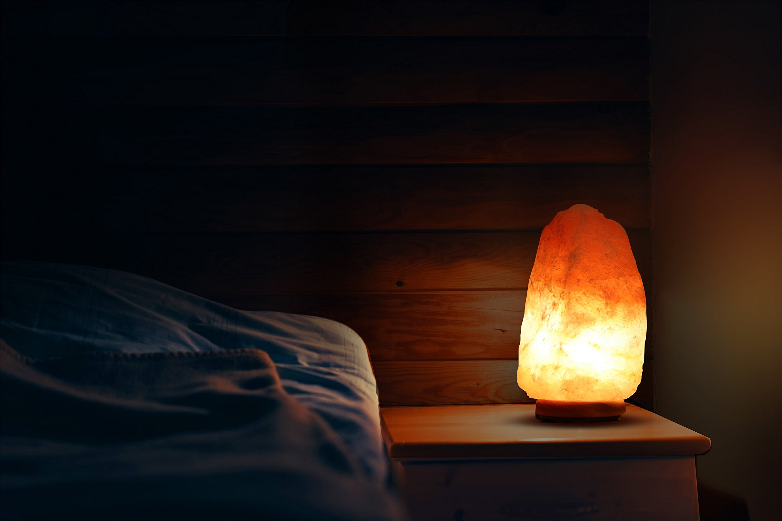 Utopia Home Natural Crystal Himalayan Salt Lamp with Extra Light Bulb - Genuine Neem Wood Base - Bulb and Dimmer Control by Utopia Home (Image #6)