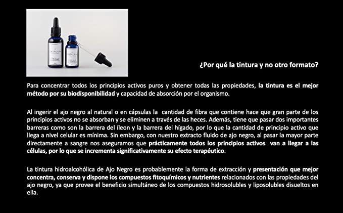 Ajo Negro Ondalium | Extracto Fluido Concentrado de 15 ml (un mes) – El formato que mejor absorbe el organismo, aprovechando todos sus beneficios | Ajo Negro Ecológico español de máxima calidad: