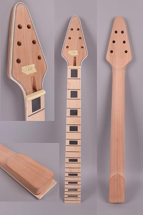 Guitarra eléctrica cuello pendientes de 22 trastes 24,75 (caoba, diapasón de arce