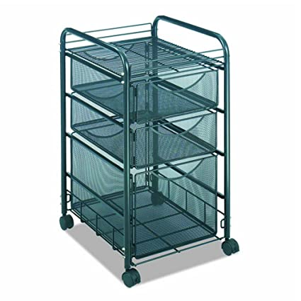 401212dbea8c Amazon.com : Rolling File Cart with wheels Mesh File with 1 File ...