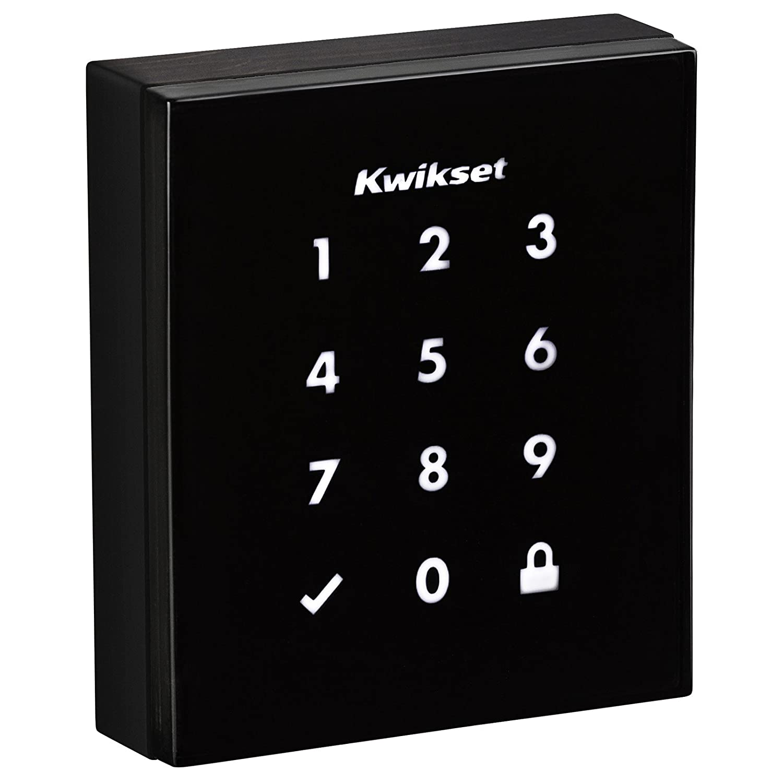 Kwikset 99530-001 Obsidian Slim Modern Electronic Touchscreen Keyless Deadbolt, Satin Nickel