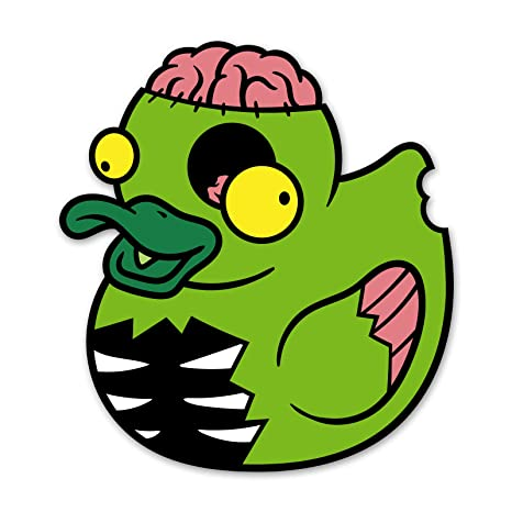 Amazon.com: Ninja Pickle Undead Duck Decal for Your Car Or ...