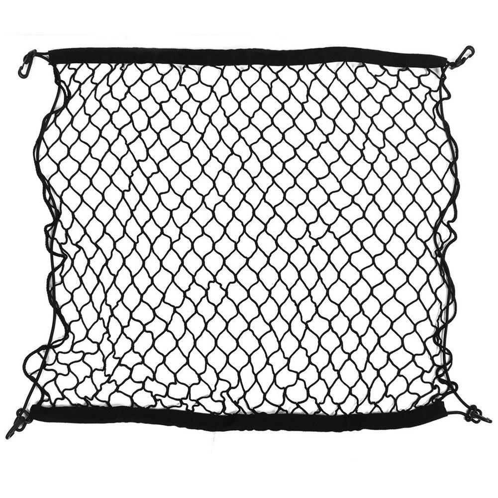 SODIAL(R) Almacenamiento Elastico Maletero Negro Nylon Equipaje Holder Net 100cm x 100cm 108244