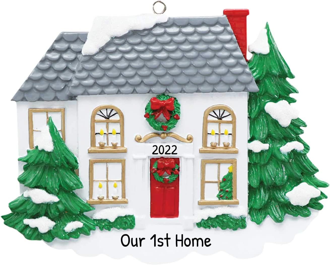 2020 White House Red Christmas Trees Amazon.com: Personalized Victorian House Christmas Tree Ornament