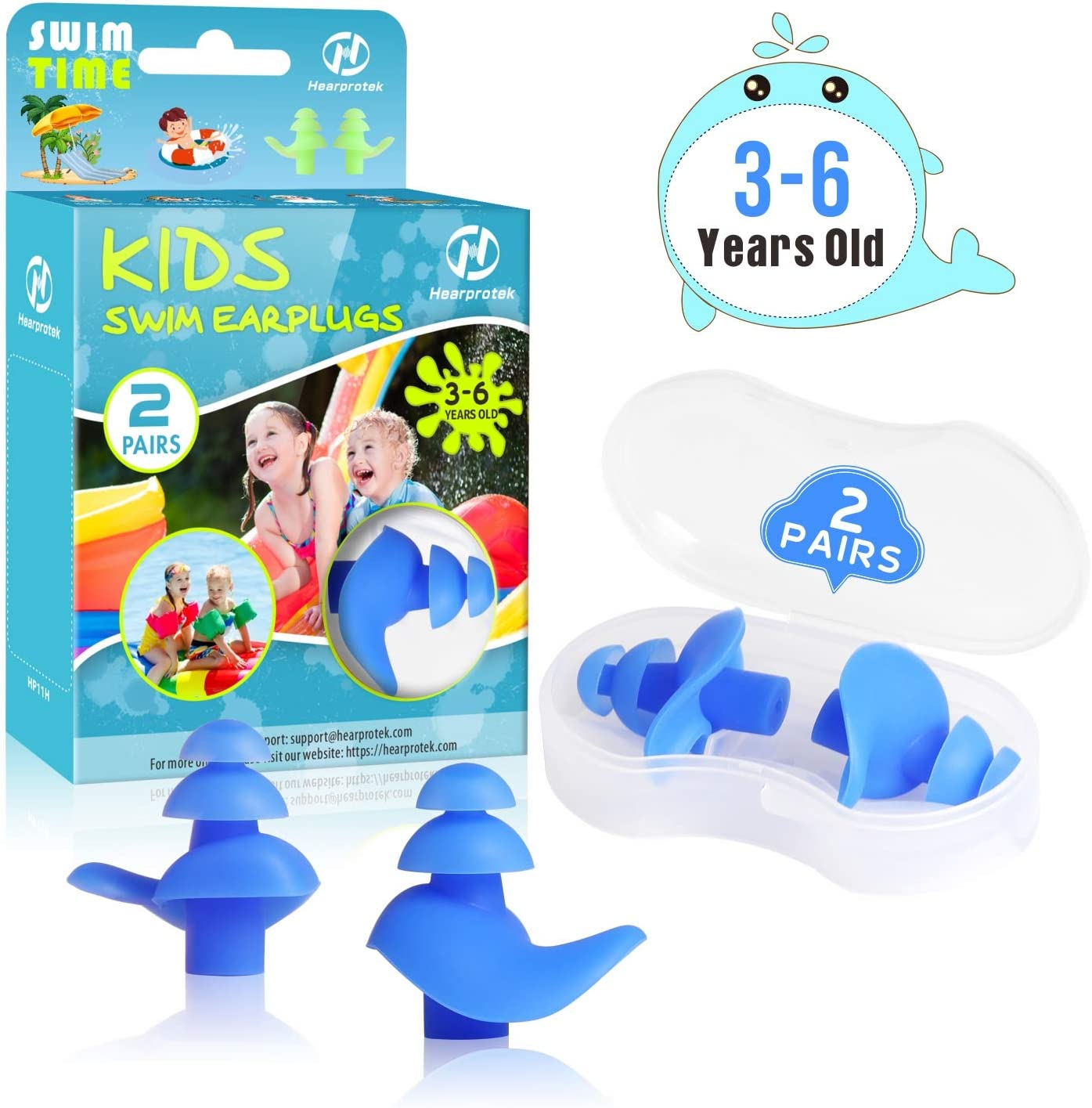Ear Plugs Accessory Fit For Swimming Diving Water Sports Comfortable Soft Buds