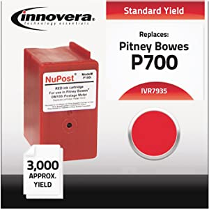 IVR7935 - Innovera 793-5 Red Ink Cartridge Compatible with Pitney Bowes DM100i, DM200L, P700Postage Mailing Meter Machine