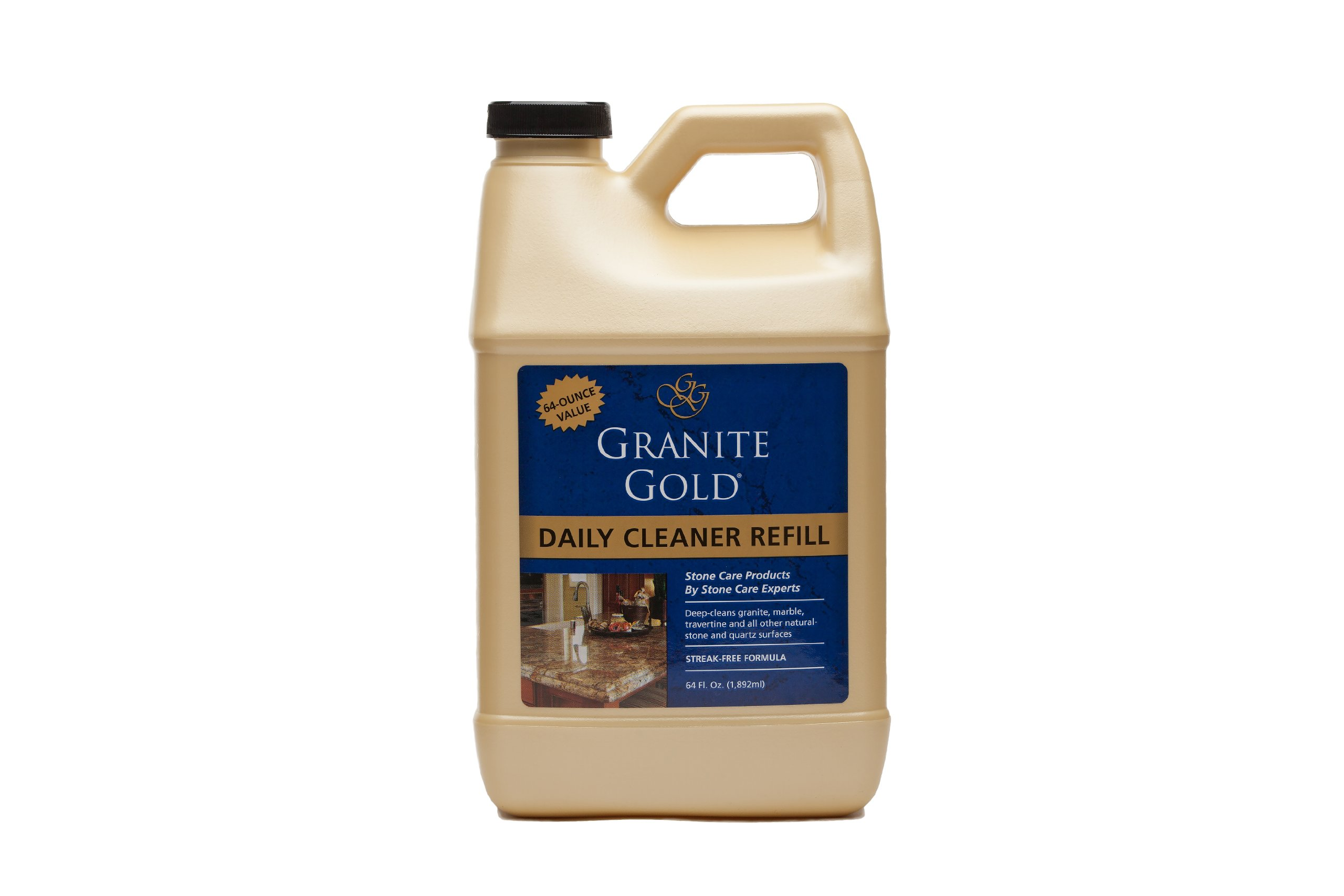 Granite Gold Daily Cleaner Refill - Streak-Free Granite Cleaner and Stone Cleaning Formula, Made In The USA - 64 Ounces