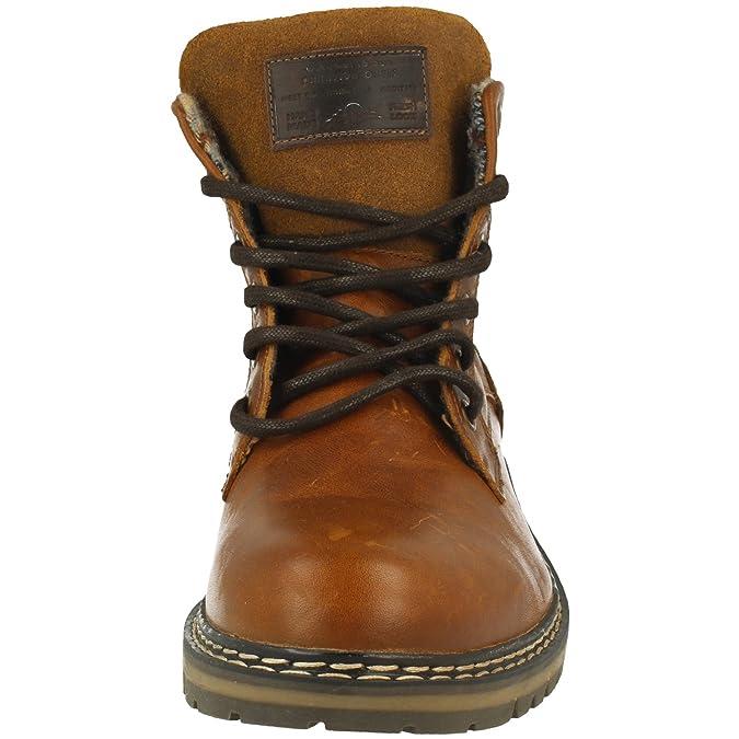 BULLBOXER Herren Stiefel 877K55858,Männer Boots,Lederstiefel,Schnürstiefel,Combat,Chukka