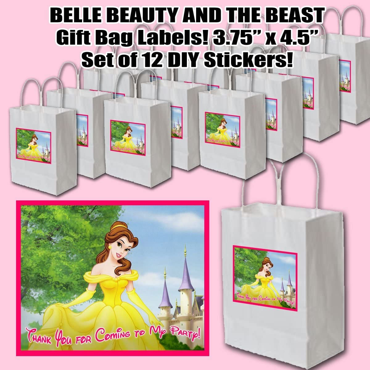 Personalised BEAUTY AND THE BEAST Belle  Birthday PVC Banners In//Outdoor Printed
