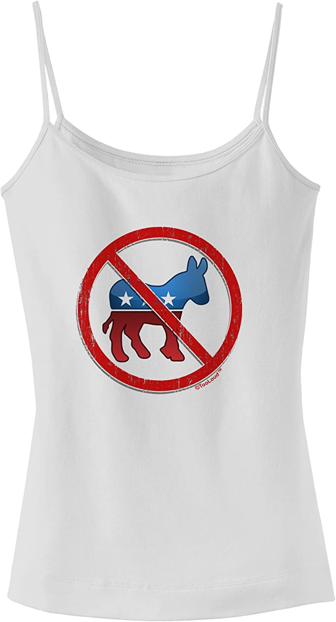 TooLoud Distressed No Republicans Sign Muscle Shirt
