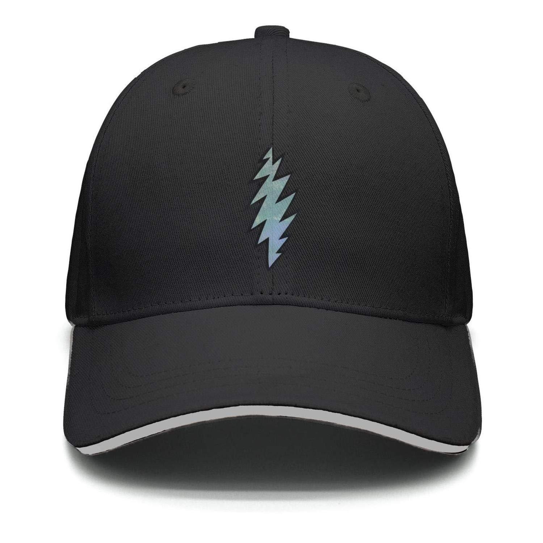 Trucker Hat QyinTec Mens Women Adjustable Snapback Hat Grateful-Dead-Logo-Lightning