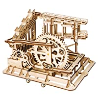 Deals on ROBOTIME 3D Wooden DIY Wooden Craft Kits Waterwheel Coaster