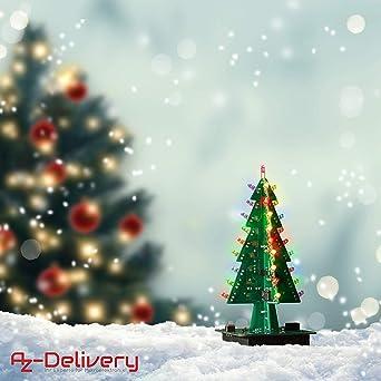 AZDelivery DIY LED Arbol de Navidad Kit hazlo tu mismo incluido ...