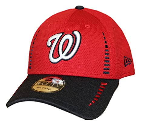 Image Unavailable. Image not available for. Color  New Era Washington  Nationals 9Forty MLB Speed Tech 2 Performance Adjustable Hat 9f71c4bd5b16