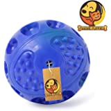 Foodie Puppies Hard Squeeze Squeak Ball Dog Toy (Color May Vary) (Medium)