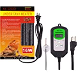 Aiicioo Under Tank Heater Thermostat - Reptile Heating Pad with Temperature Control Reptile Heat Mat for Combo Set for…