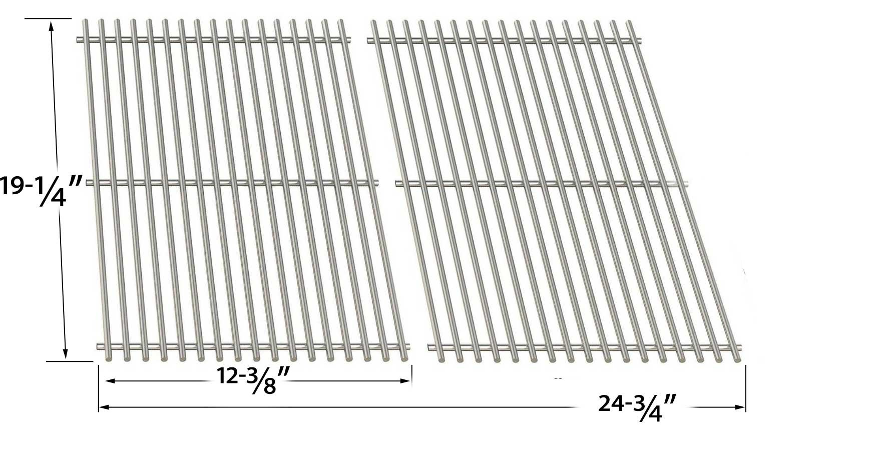 Charmglow 810-8530-S Replacement Kit Includes Heat Shields, Grill Burners & Stainless Cooking Grates