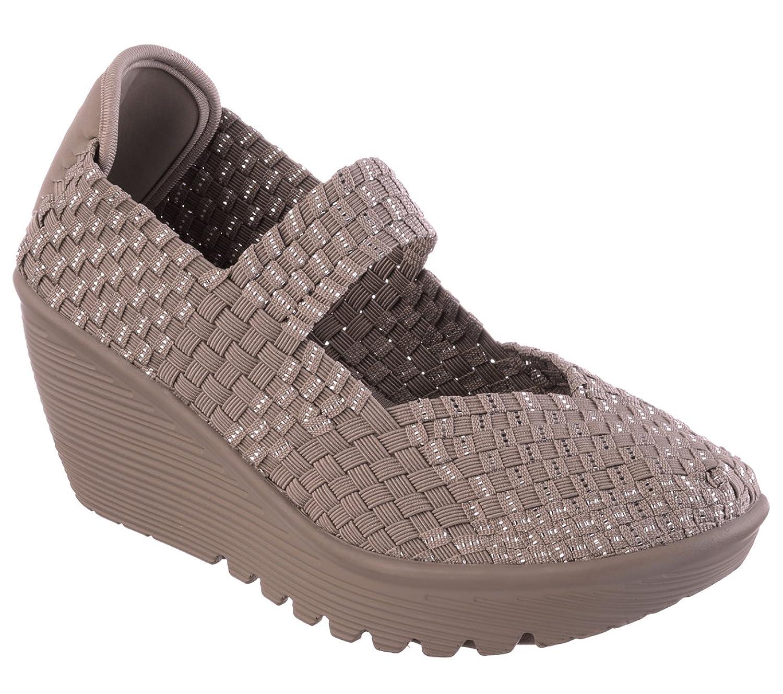Skechers Cali Women's Parallel Weave It Be Wedge Sandal