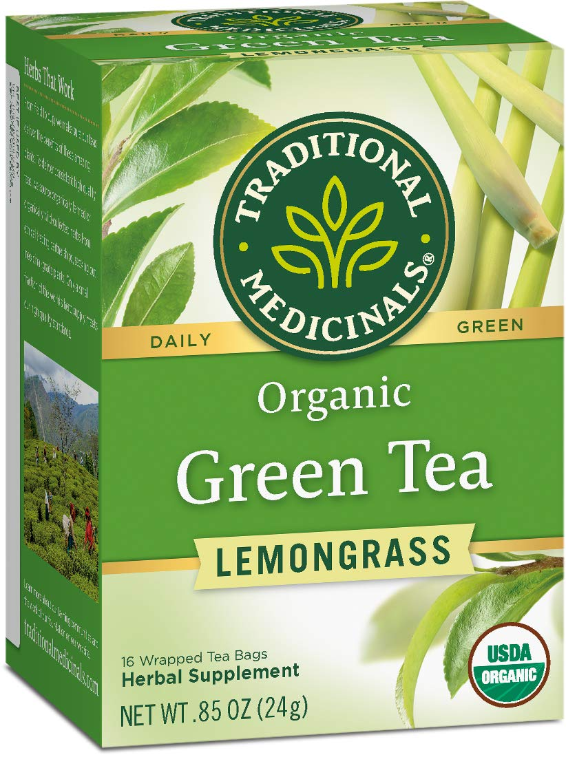 Traditional Medicinals Organic Green Tea Lemongrass Tea For Diabetes