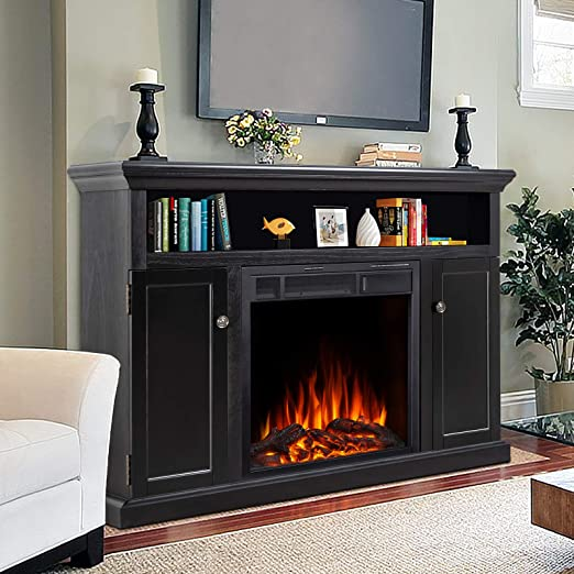 Amazon Com Jamfly Electric Fireplace Tv Stand Wood Mantel For Tv