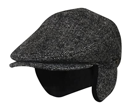 d635c16d1ec57 Folie Co. 100% Wool Herringbone Winter Ivy Cabbie Hat w Fleece ...