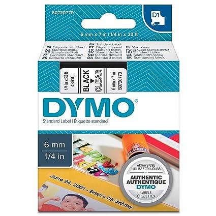 Dymo D1 Standard, Cintas para Impresoras de Etiquetas, 6 mm x 7 m ...