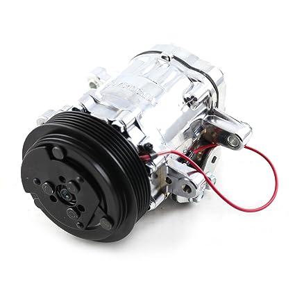 Amazon.com: Procomp Electronics PCE413.1004 Serpentine Belt Sanden Style 7176 Small Body Chrome Air Compressor: Automotive
