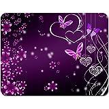 Meffort Inc Standard 9.5 x 7.9 Inch Mouse Pad - Pink Purple Butterfly Design