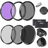 Neewer 67mm Objectif Filtre pour Canon EOS 700D 650D 600D 550D 500D 70D 60D 7D 6D /Rebel T5i T4i T3i T3 T2i avec 18-135mm EF-S IS STM Zoom Objectif - Inclus: 67mm Ensembre de Filtre (UV, CPL, FLD) + Ensemble de Filtre ND Densité Neutre (ND2, ND4, ND8) + Sac + Parasoleil + Bouchon + Laisse