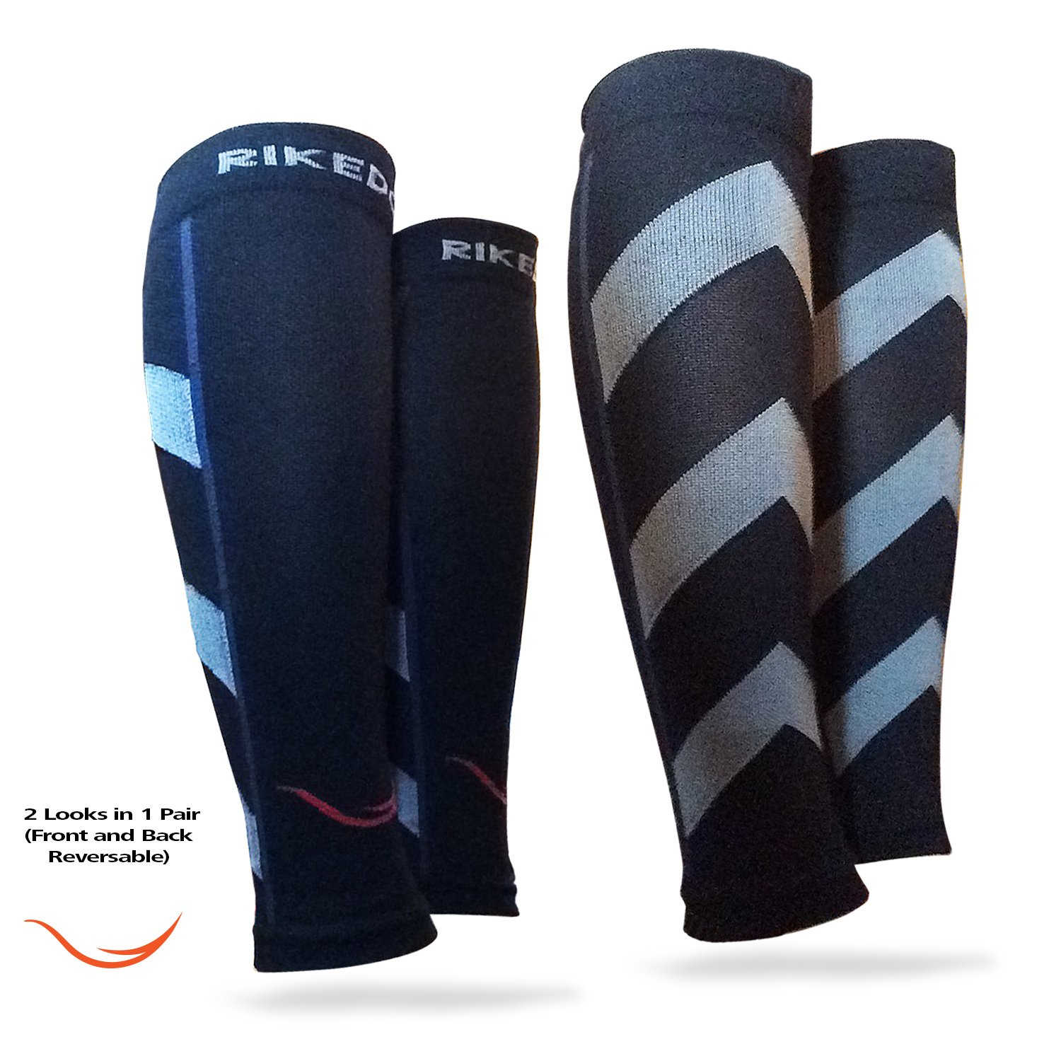 Graduated Calf Compression Sleeves Socks: Best Men & Women Pain Relief Stocking for Shin Splints, Leg Cramps Strains, Varicose Veins, Swelling. Increase Blood Circulation, Anti Fatigue & Fast Recovery,Black,Medium