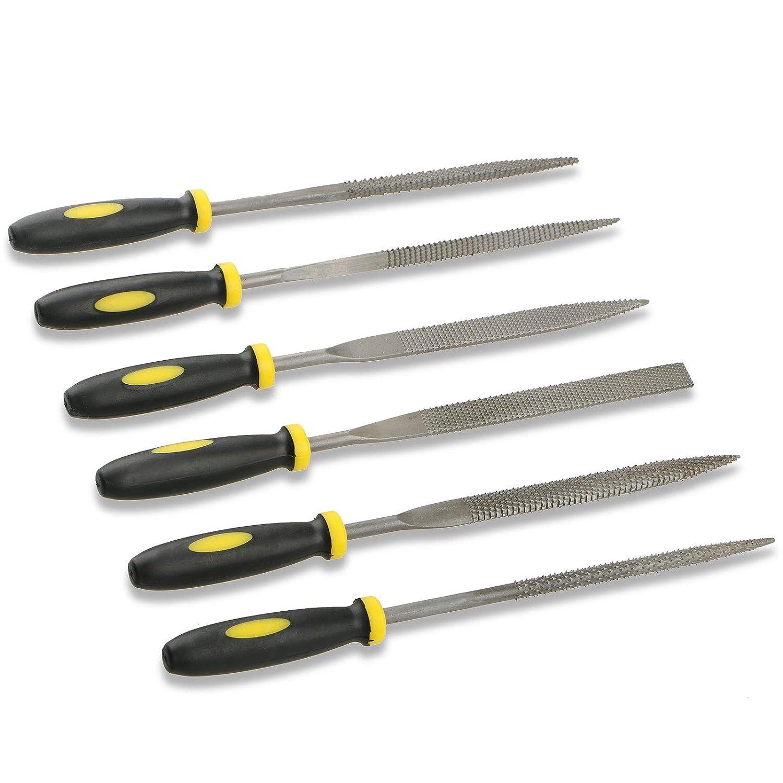 6-Pack EEEKit Needle File Set for Jeweler Wood Carving Model Metal Glass