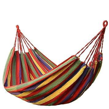 aotu canvas hammock  multicolor  amazon    aotu canvas hammock  multicolor   garden  u0026 outdoor  rh   amazon