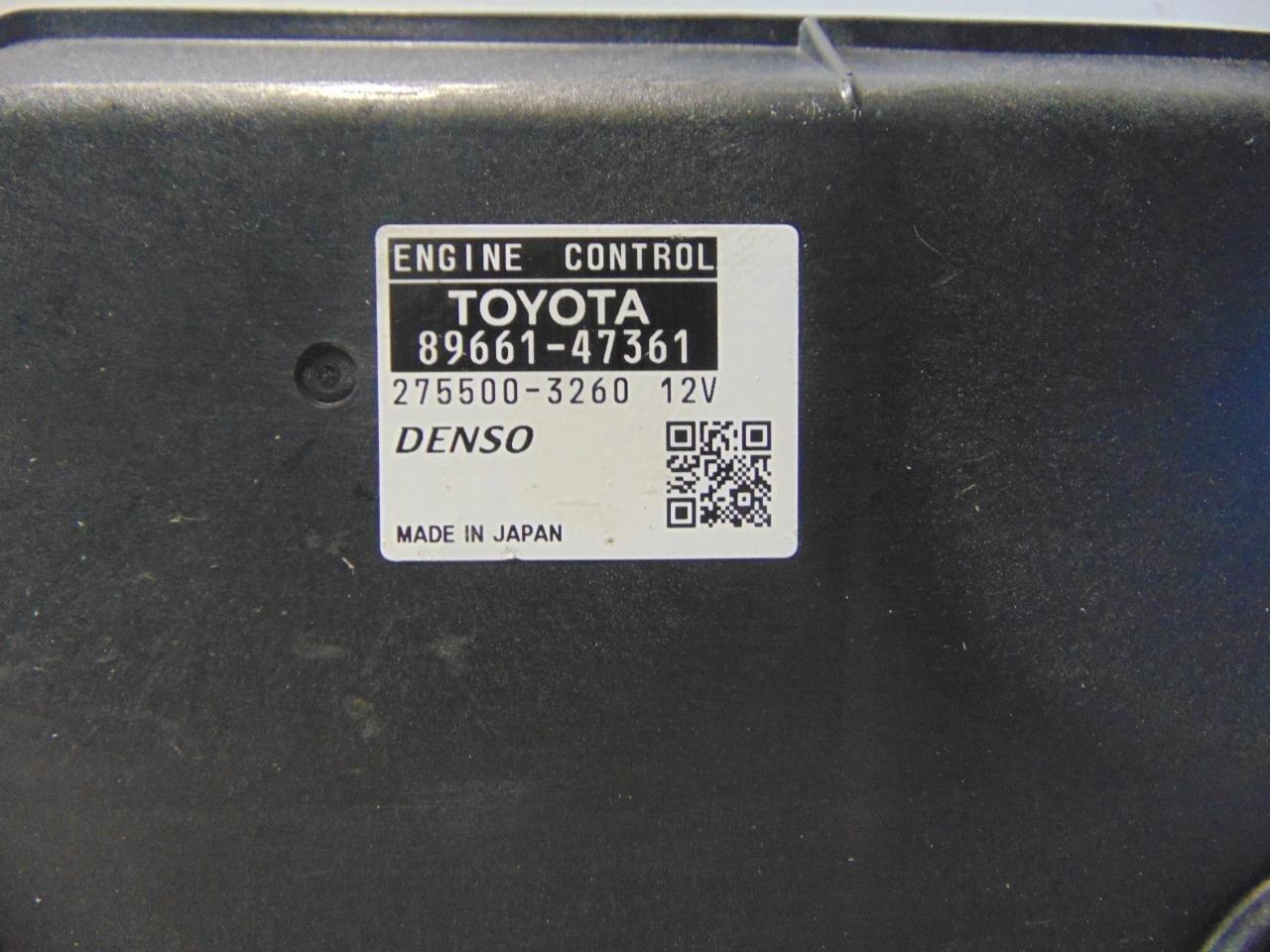 2012 Toyota Prius ecu ecm computer 89661-47361