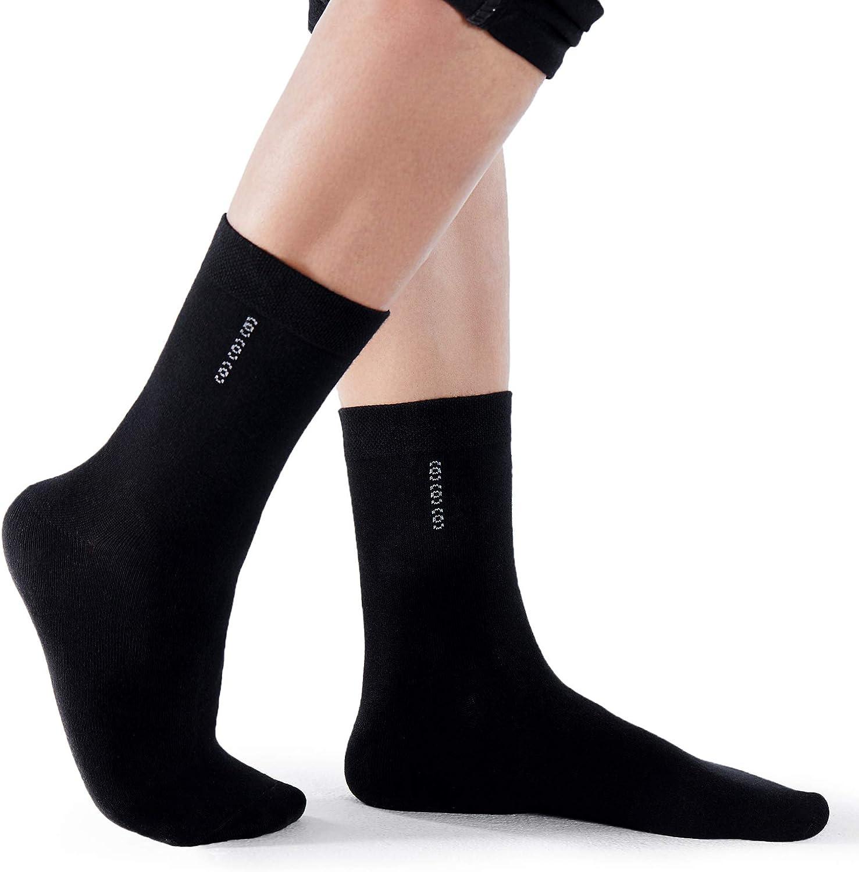 DOVAVA Calcetines de Algodón Hombre 6-Paquete Pantorrilla Atlética Equipo de Negocios Senderismo Calcetines Transpirables y Resistentes al Desgaste