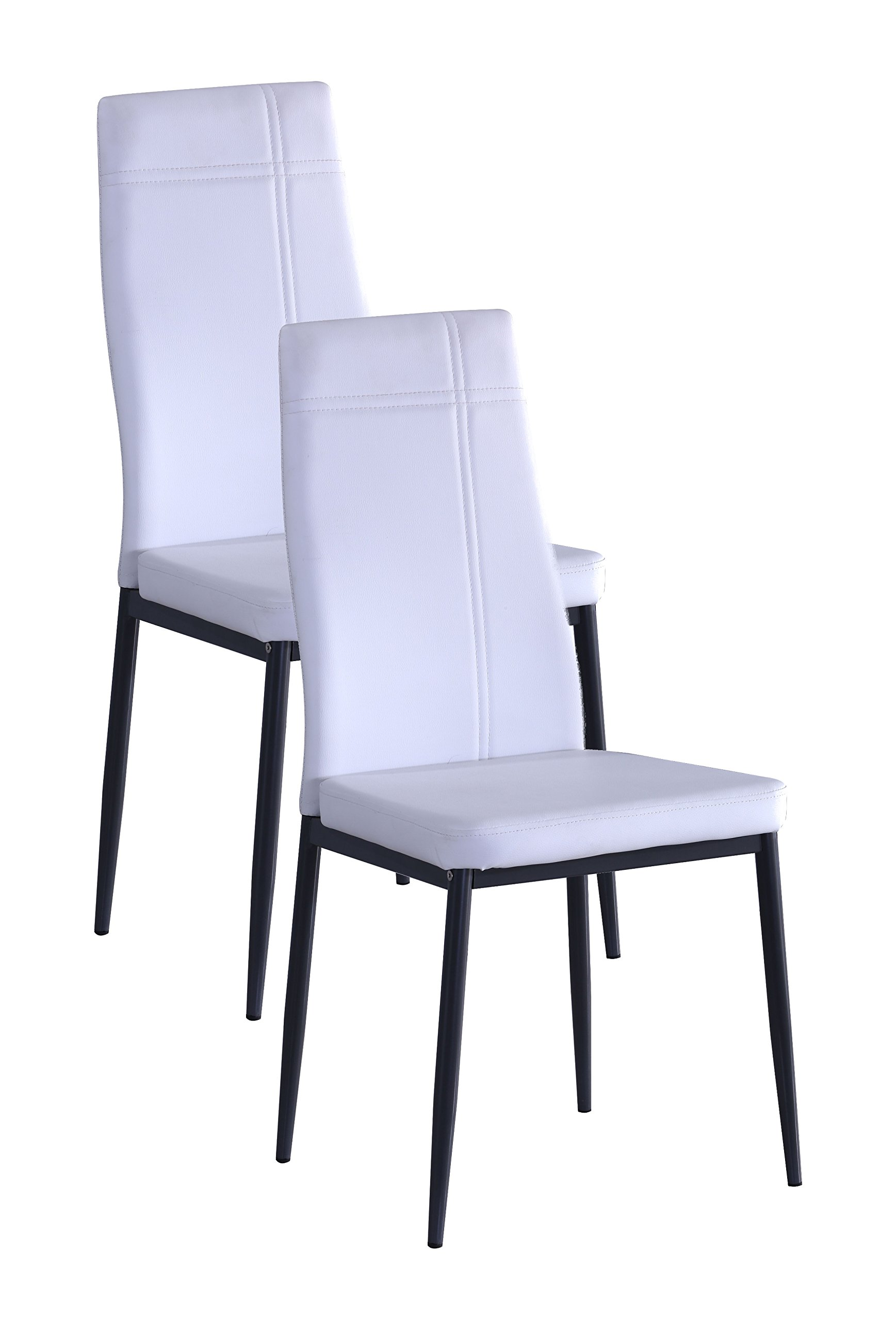 Metal Frame Dining Side Chair (2, White)