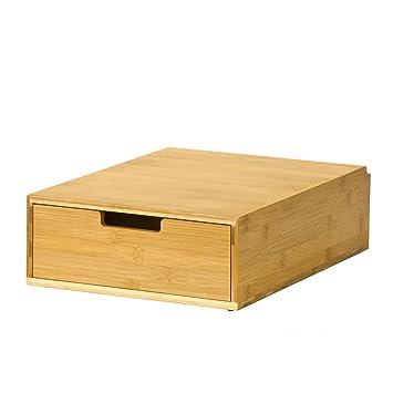 Haotian Coffee Machine Stand U0026 Coffee Pod Capsule Teabags Drawer Box Holder  Cabinet, Bamboo,