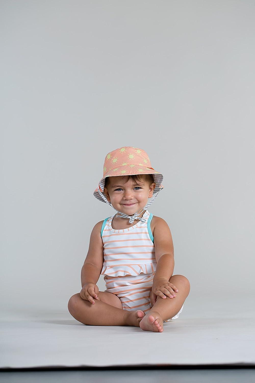 L/ässig 1433005803 Baby Sun Protection Bucket Hat Sonnenhut Size Tod 18-36 Monate orange