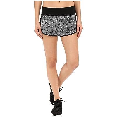 NIKE Women's Dri-Fit Canopy Crew Running Shorts-Black/White