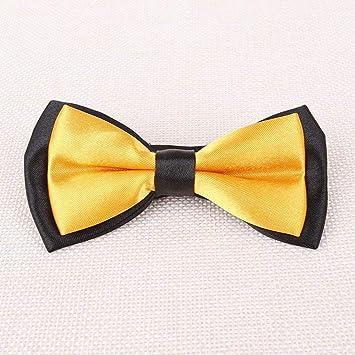 cf98f25a88763 ZhiGe Noeud Papillon,Noeud de Cravate Double-Couleur du Enfants Enfants  Performance Papillon Noeud