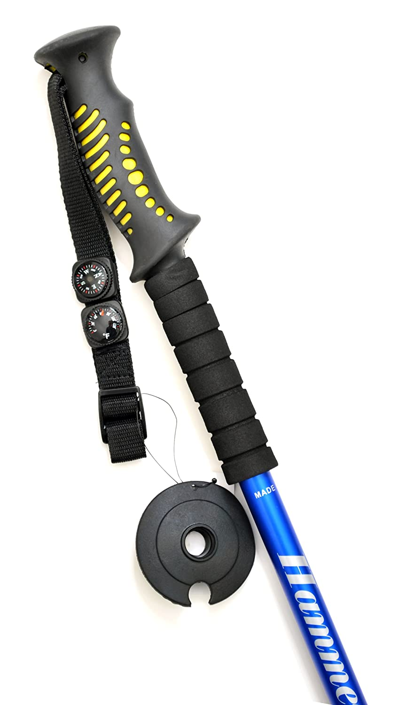 Hammers Blue Anti-Shock Hiking Trekking Pole Walking Stick 9BU w Compass Thermometer