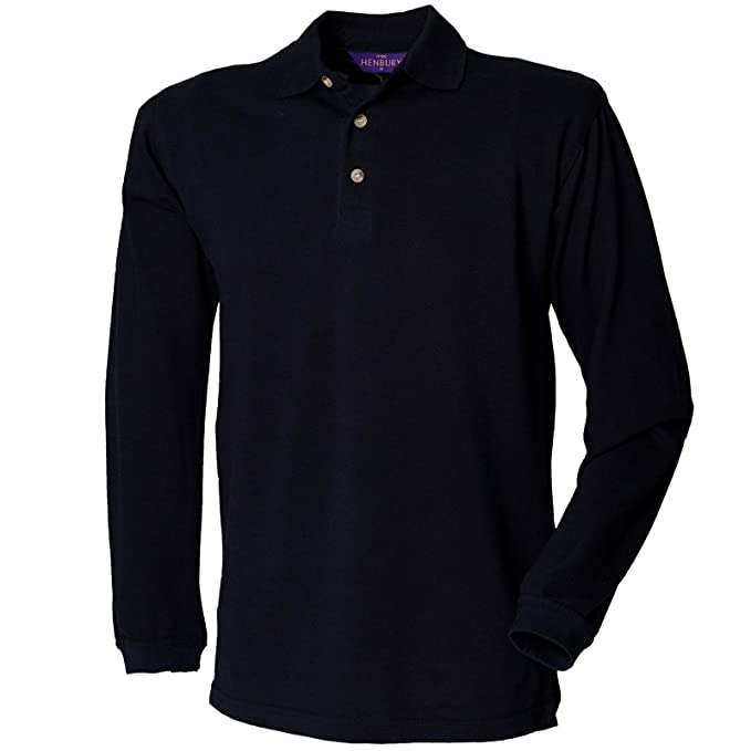 Henbury - Camiseta - Manga Larga - para hombre azul azul marino S